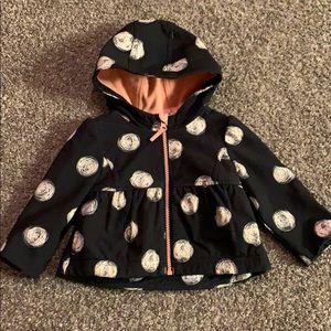 Cat & Jack Lined Girls 12 mo. Rain Jacket